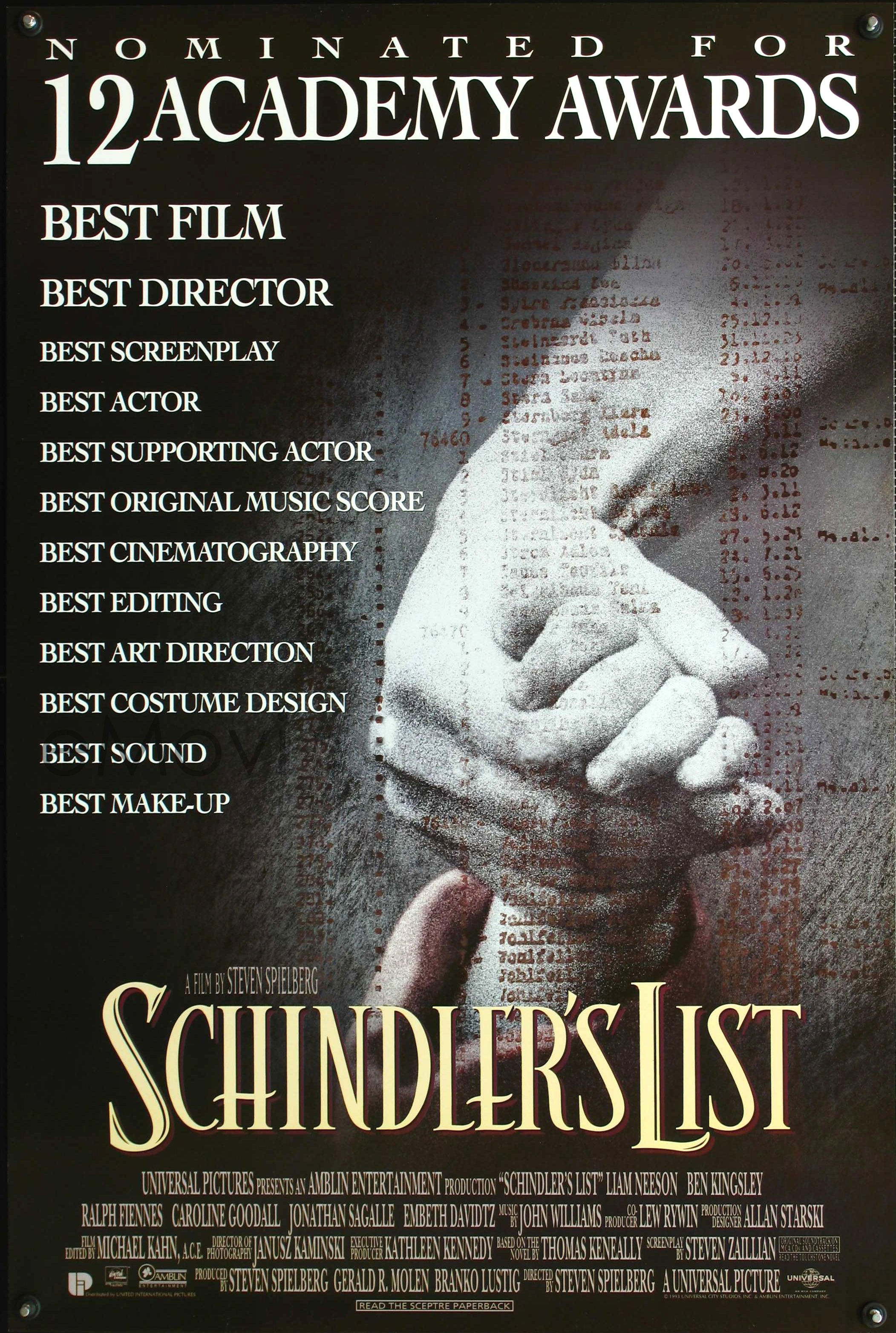 schindlers list Schindler's list (1993) is steven spielberg's unexpected award-winning masterpiece - a profoundly shocking, unsparing, fact-based, three-hour.